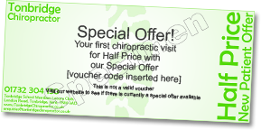 Bexleyheath chiropractic clinic special offer voucher small